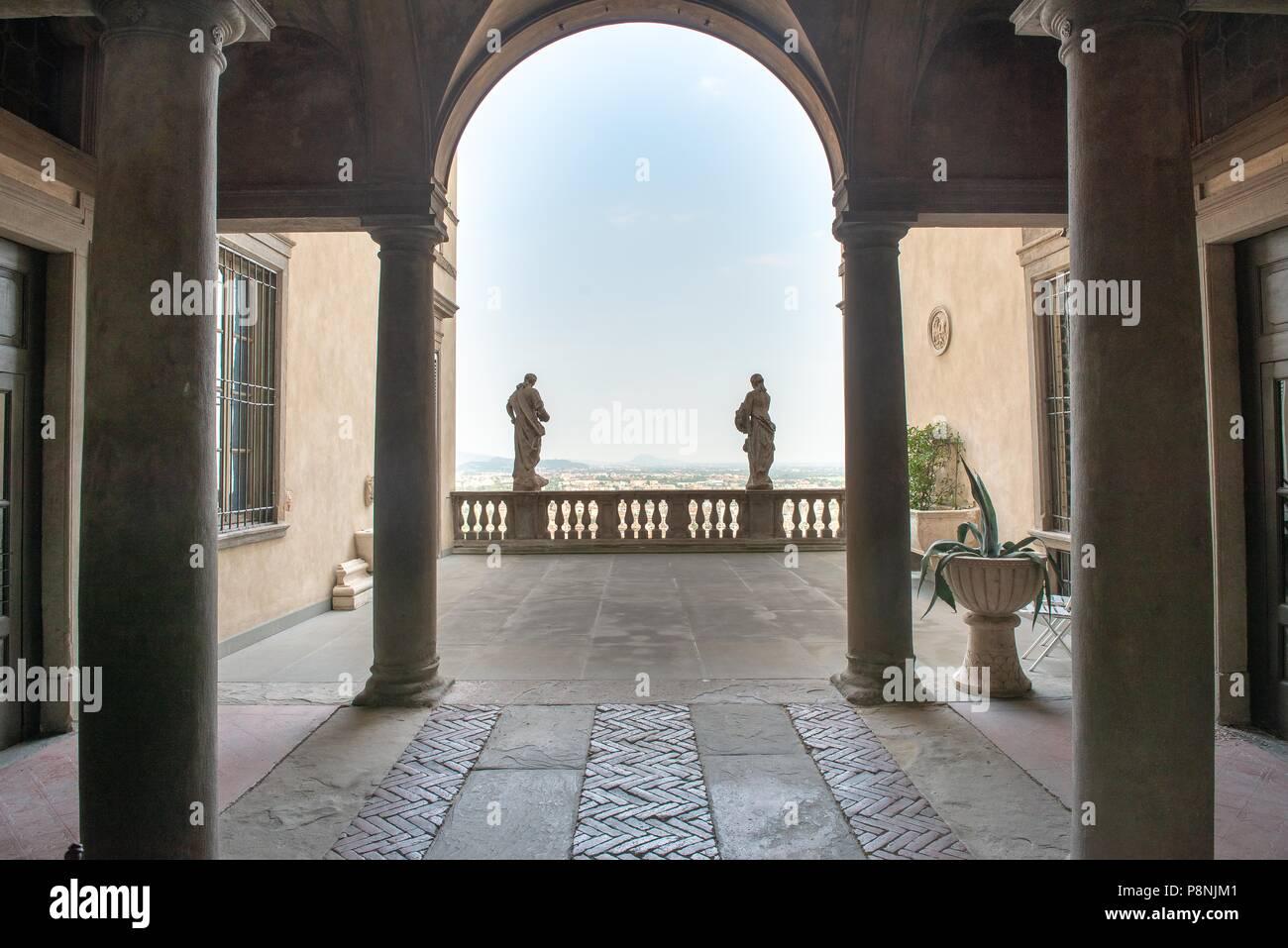 cloister third building in Bergamo Stock Photo