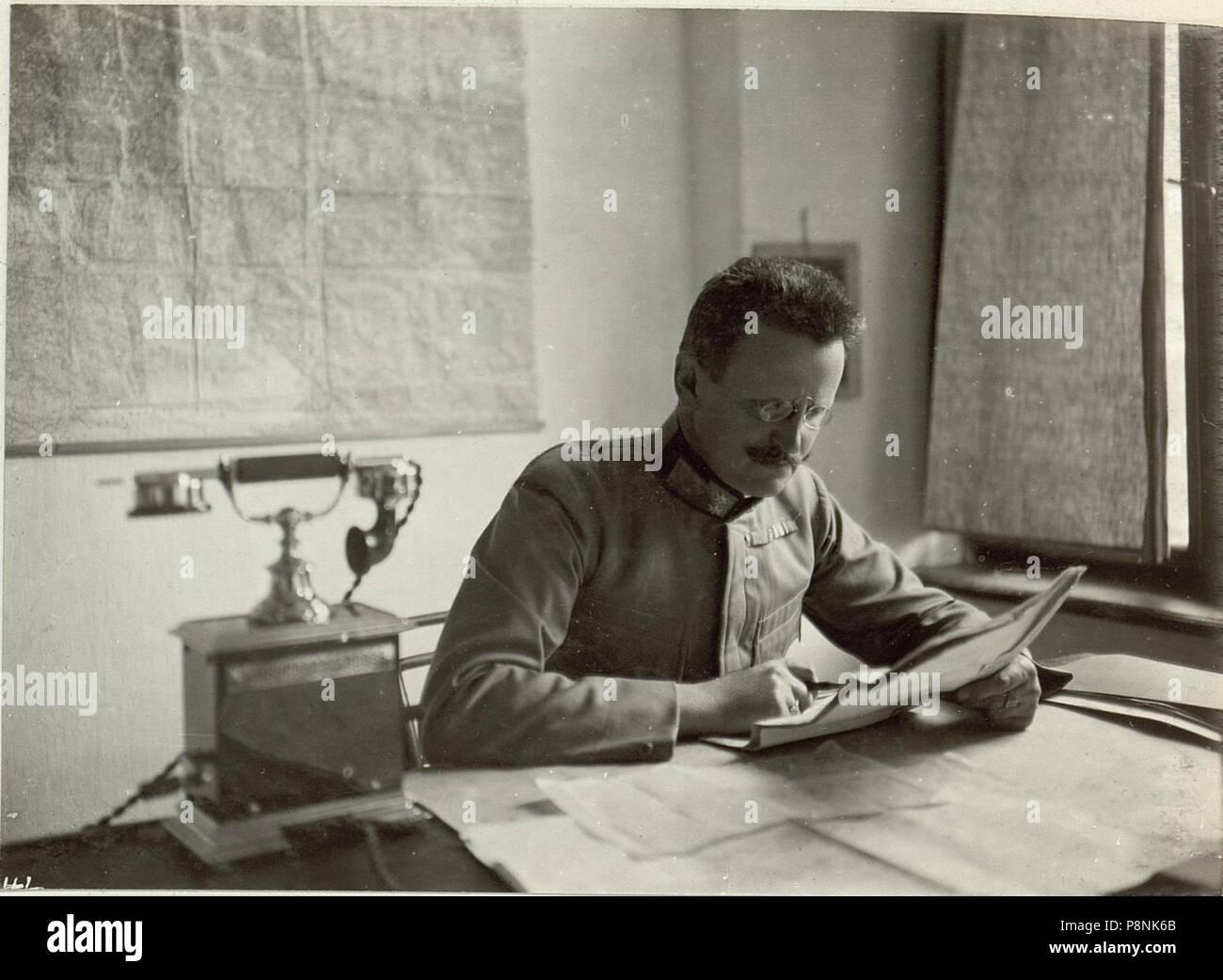 .   299 Generalstabschef der 48. ITD. Obstlt.des Gstbs. STEURER. Aufgenommen, am 22. September 1915. (BildID 15460335) - Stock Image