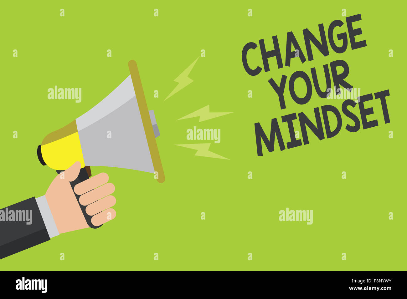 Handwriting Text Change Your Mindset Concept Meaning Replace Your