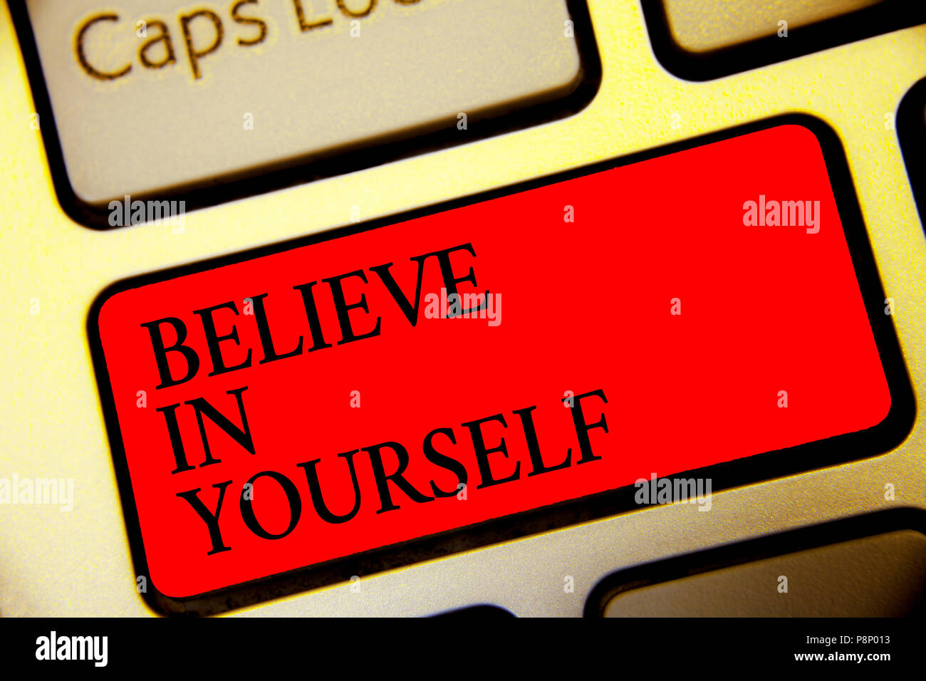 Conceptual Hand Writing Showing Believe In Yourself Business Photo