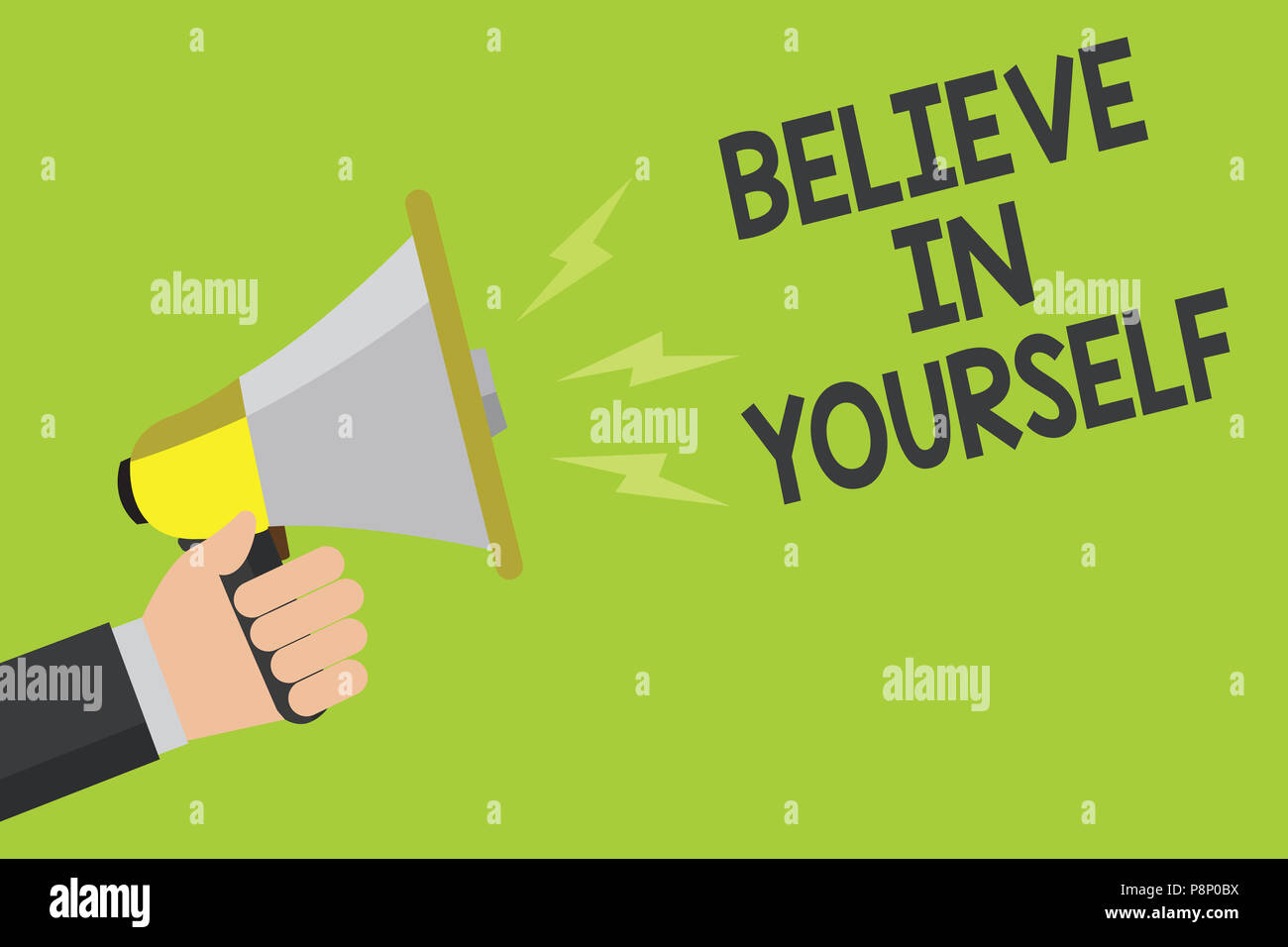 Handwriting Text Believe In Yourself Concept Meaning Encouraging