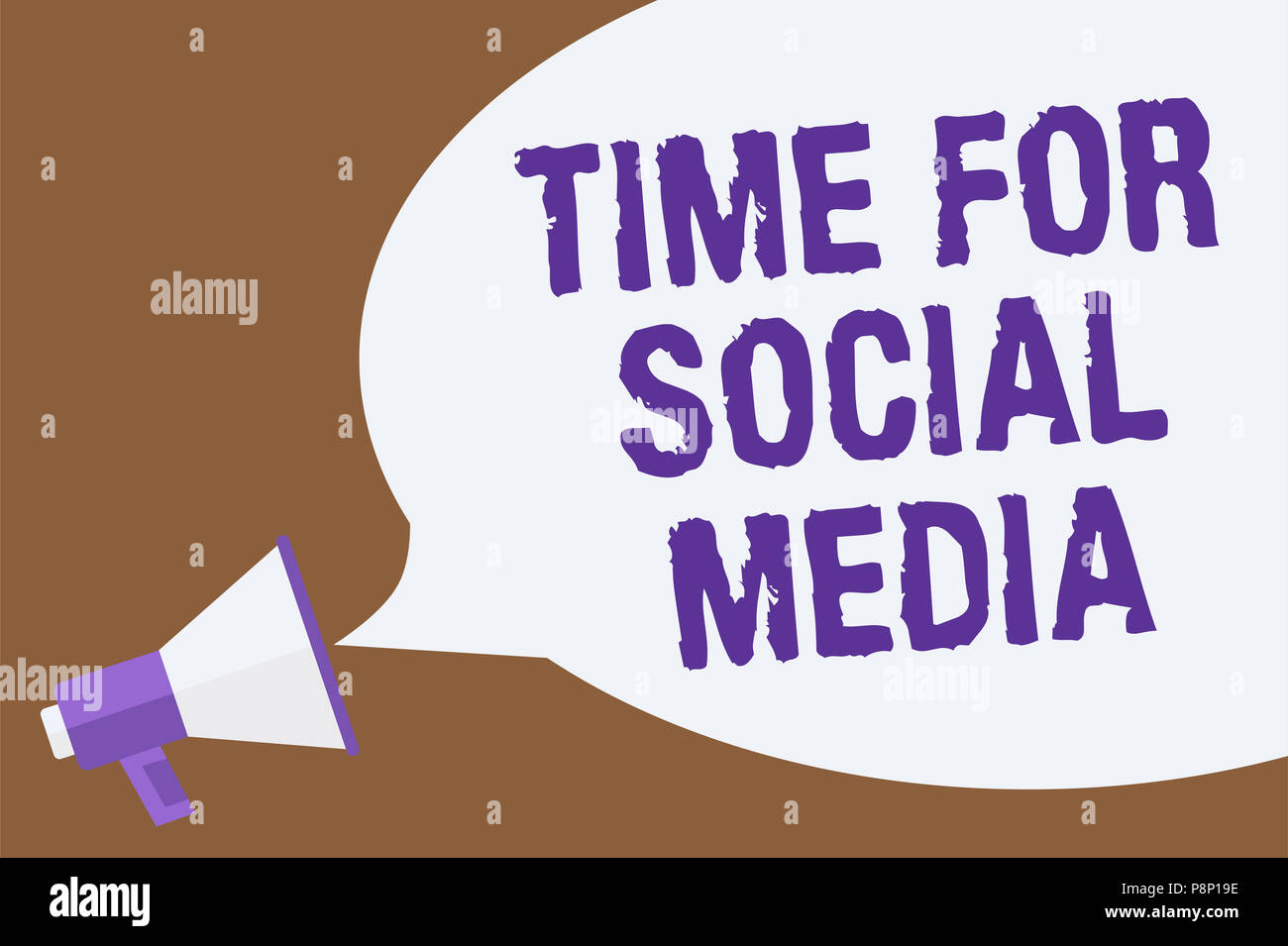 Text sign showing Time For Social Media. Conceptual photo meeting new friends discussing topics news and movies Hot issue announcement attention recal - Stock Image