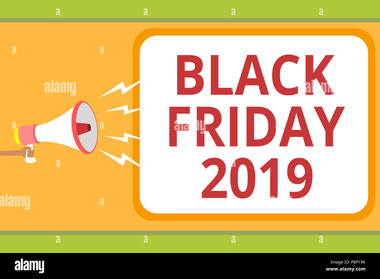 Writing note showing Black Friday 2019. Business photo ...