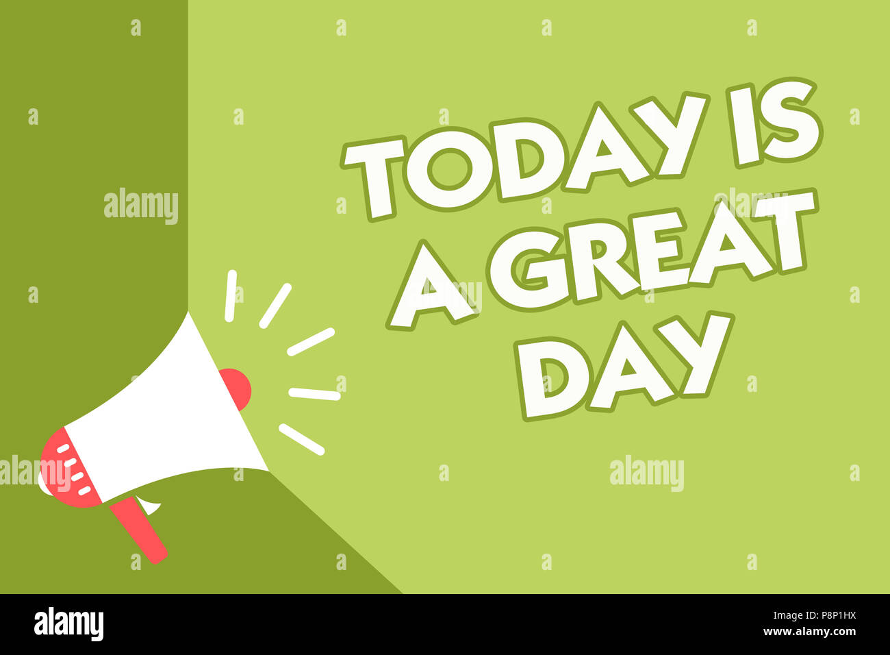 word writing text today is a great day business concept for