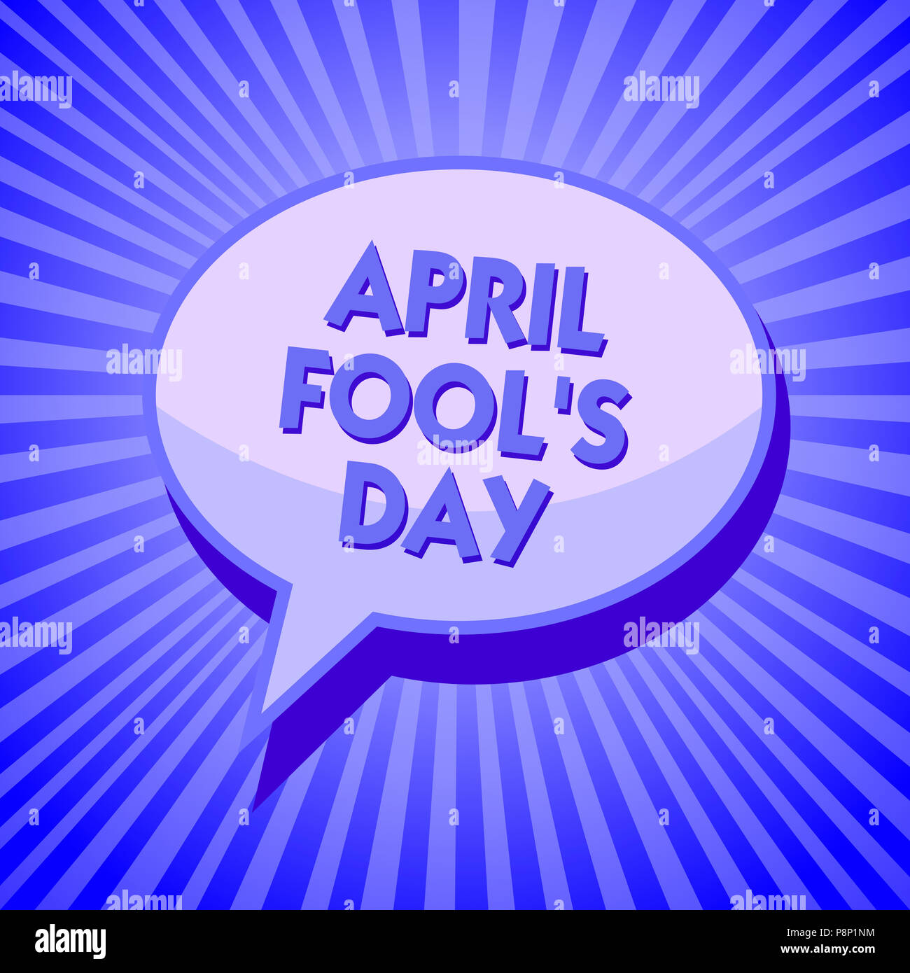 Writing note showing April Fool s is Day. Business photo showcasing Practical jokes humor pranks Celebration funny foolish Sparkling waves design scri - Stock Image