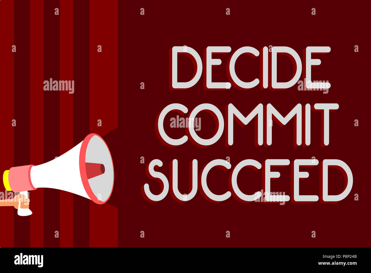 Handwriting Text Decide Commit Succeed Concept Meaning Achieving