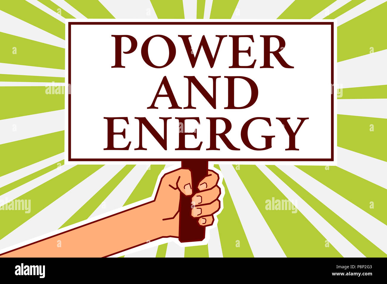Word Writing Text Power And Energy Business Concept For Electricity