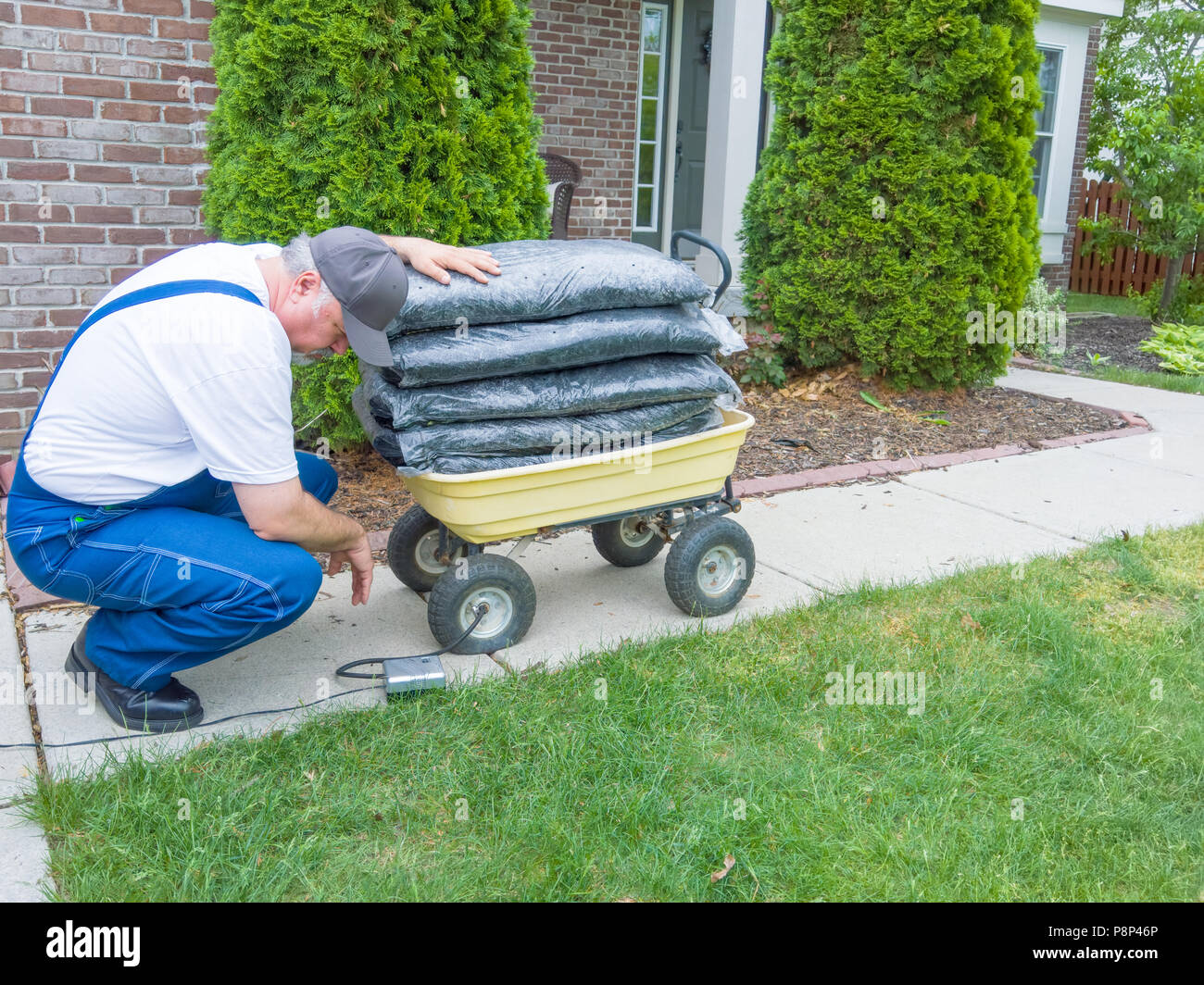 Cart Loaded With Bags Stock Photos Amp Cart Loaded With Bags