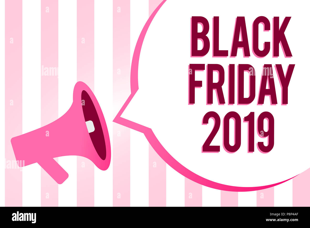Conceptual hand writing showing Black Friday 2019 ...