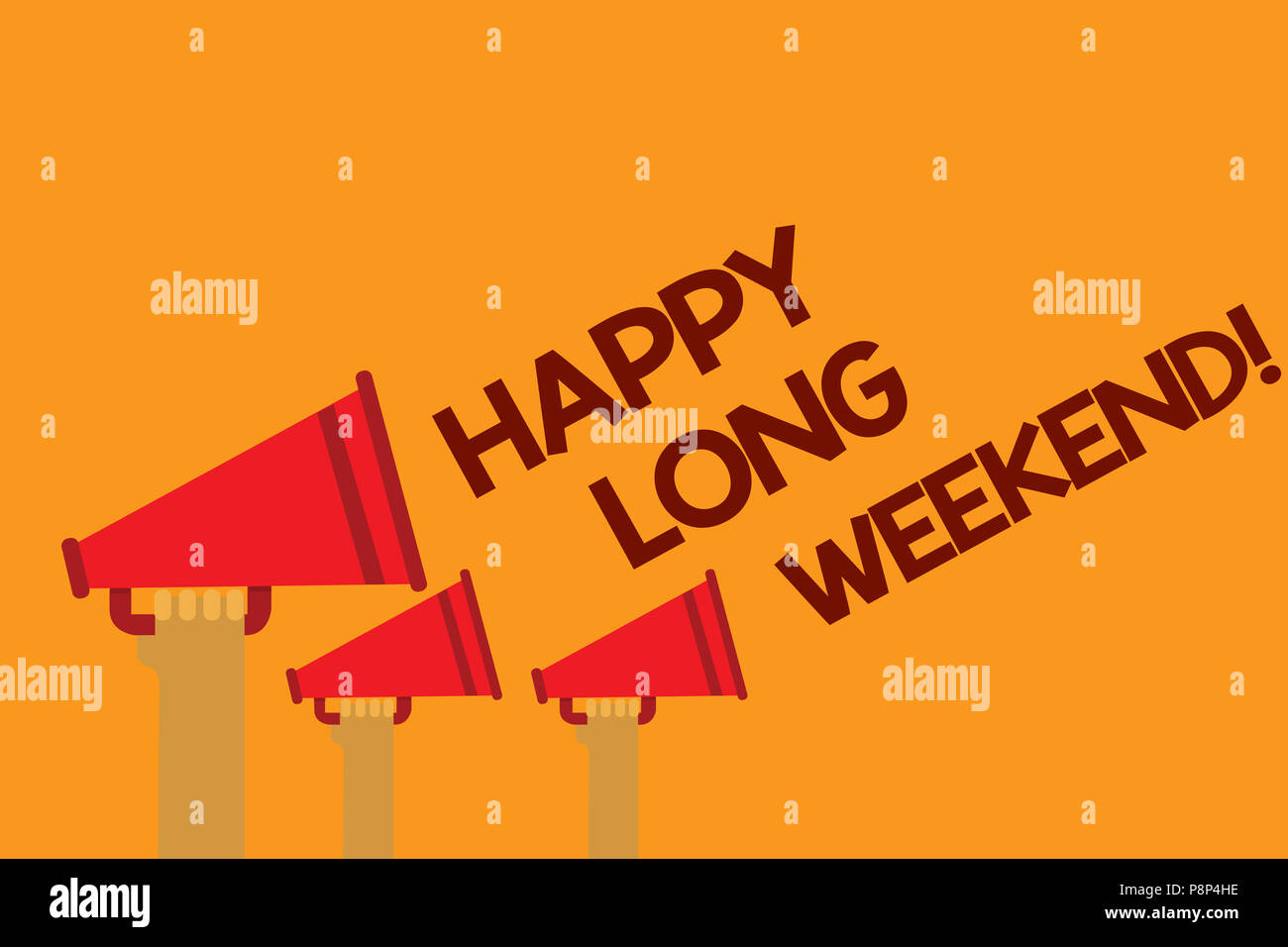 word writing text happy long weekend. business concept for wishing