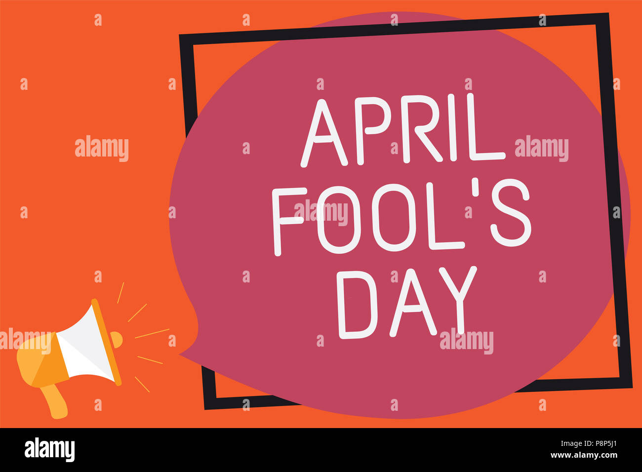 Conceptual hand writing showing April Fool s is Day. Business photo text Practical jokes humor pranks Celebration funny foolish Remember message publi - Stock Image