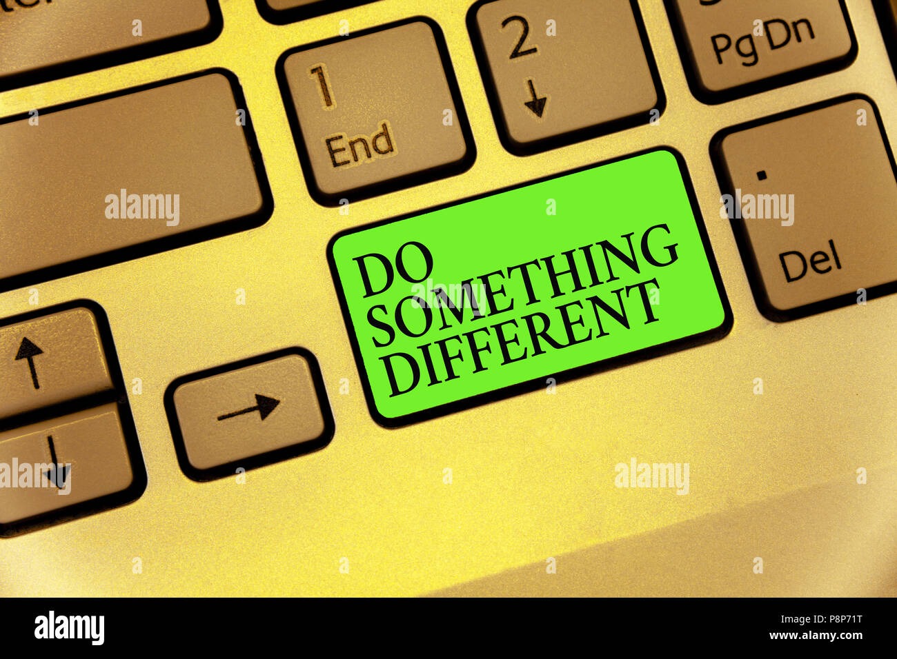 Writing Note Showing Do Something Different Business Photo