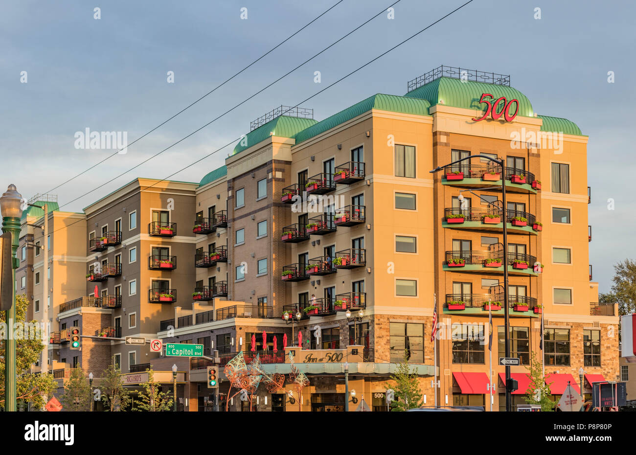 Boise Idaho In The Evening Stock Photos & Boise Idaho In The Evening ...