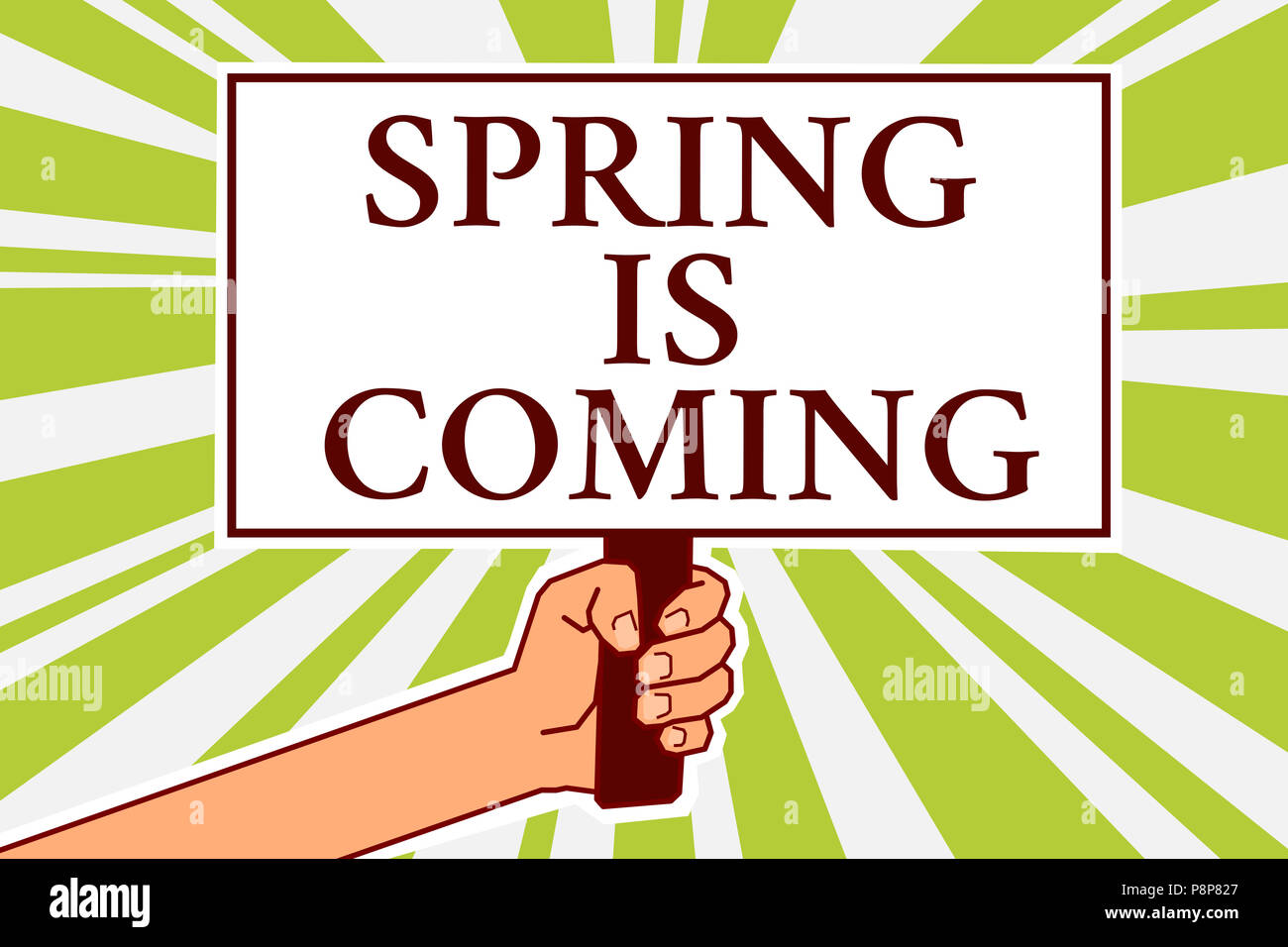 Word Writing Text Spring Is Coming Business Concept For After