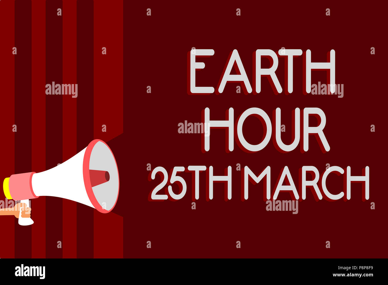 Handwriting Text Earth Hour 25th March Concept Meaning Symbol