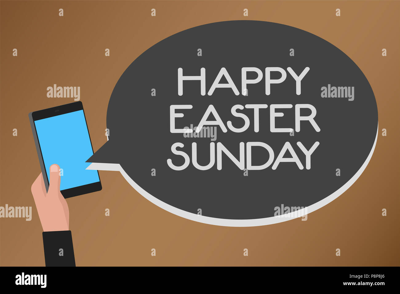 Word Writing Text Happy Easter Sunday Business Concept For Greeting