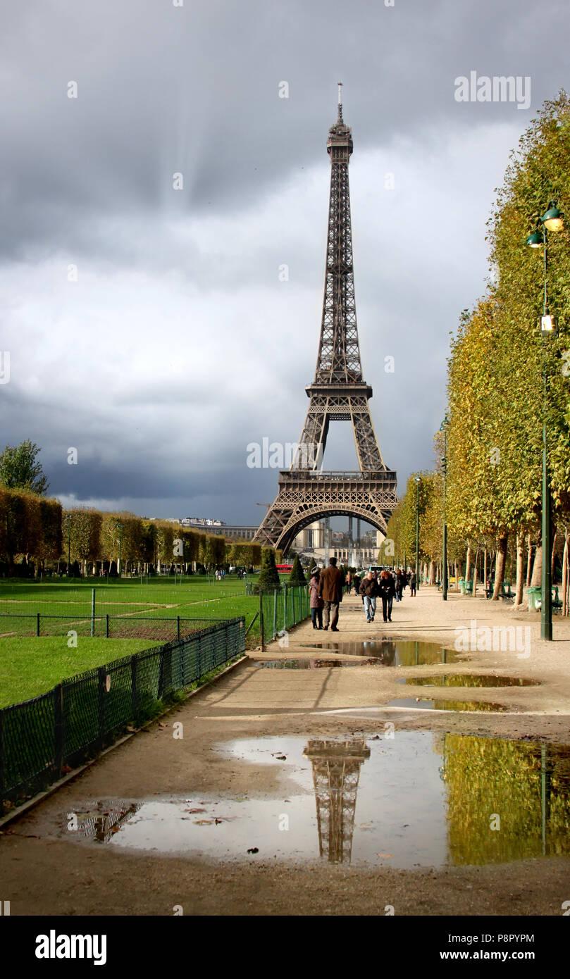 view of eiffel tower paris france stock photo 211946412 alamy