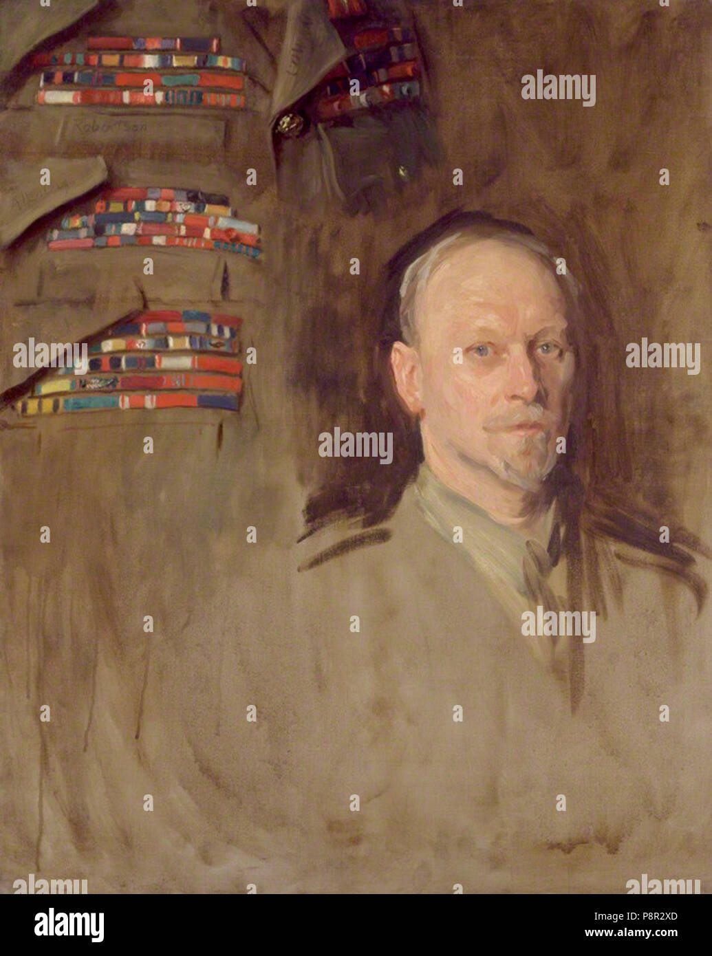 by John Singer Sargent, oil on canvas, circa 1919-1922 347 Jan Christian Smuts (study) - Stock Image