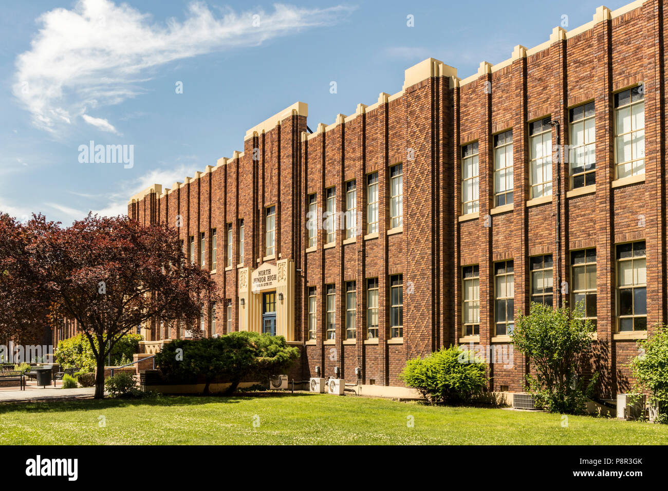 Boise, Idaho, USA - June 6, 2018: North Junior High School on N 13th St. in Downtown Boise, ID. - Stock Image