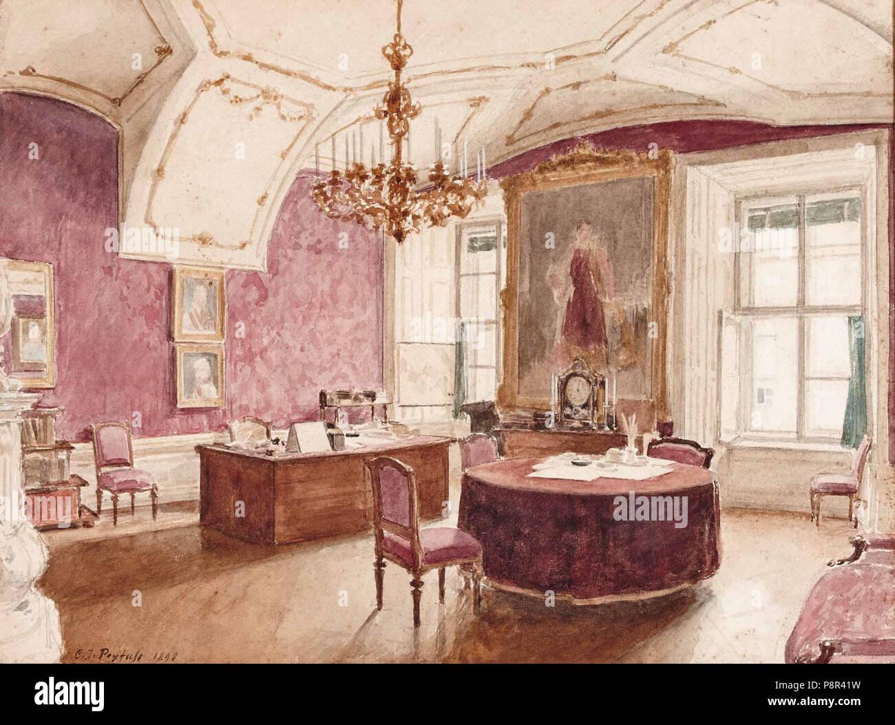 .   360 Karl J Peyfuss Hofburg Arbeitszimmer von I Hofrat Franz Freiherr von Wetschl Stock Photo