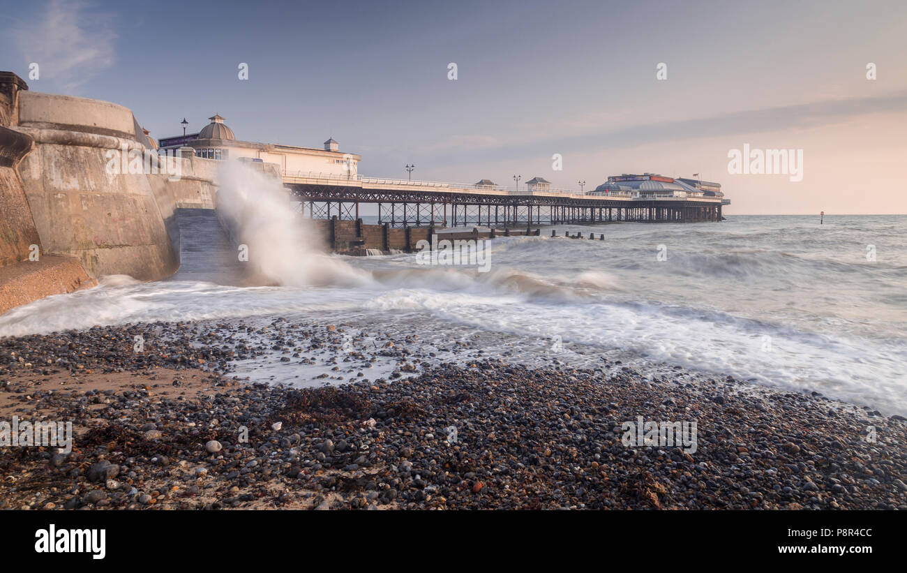 Cromer pier on the Norfolk coast, England - Stock Image