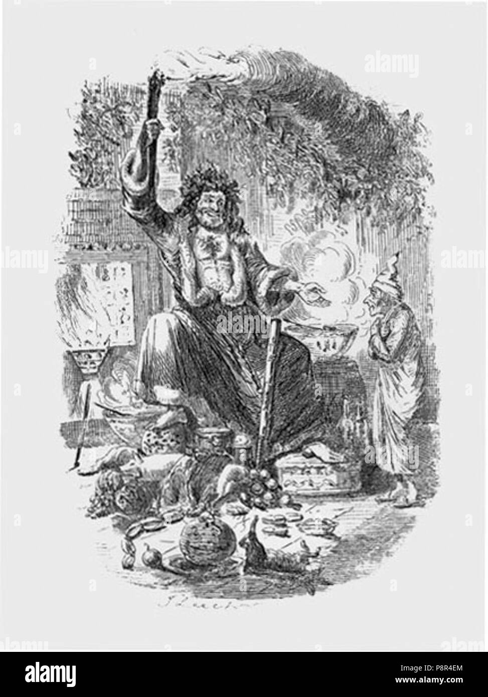 A Christmas Carol Spirits.A Christmas Carol The Second Of The Three Spirits By John