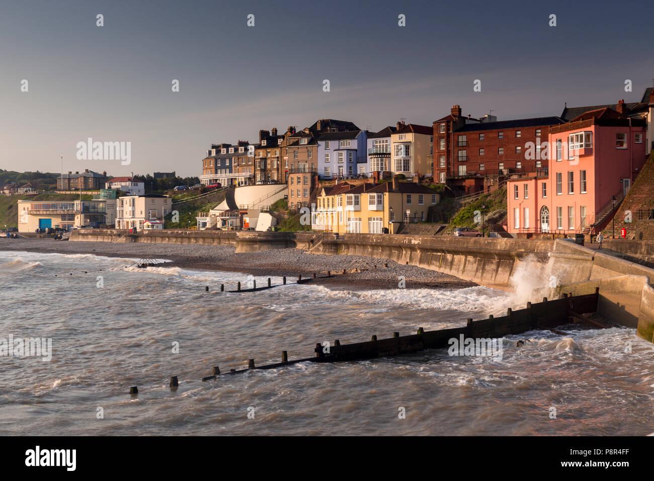Cromer seafront, Norfolk coast, England - Stock Image