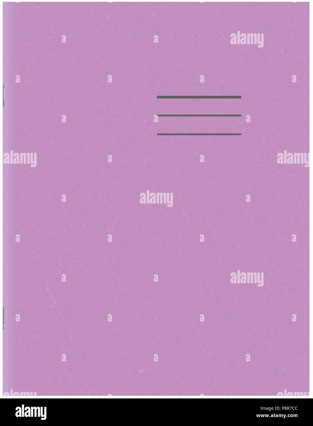Exercise Book Template Blank School Workbook Cover Stock Vector Art
