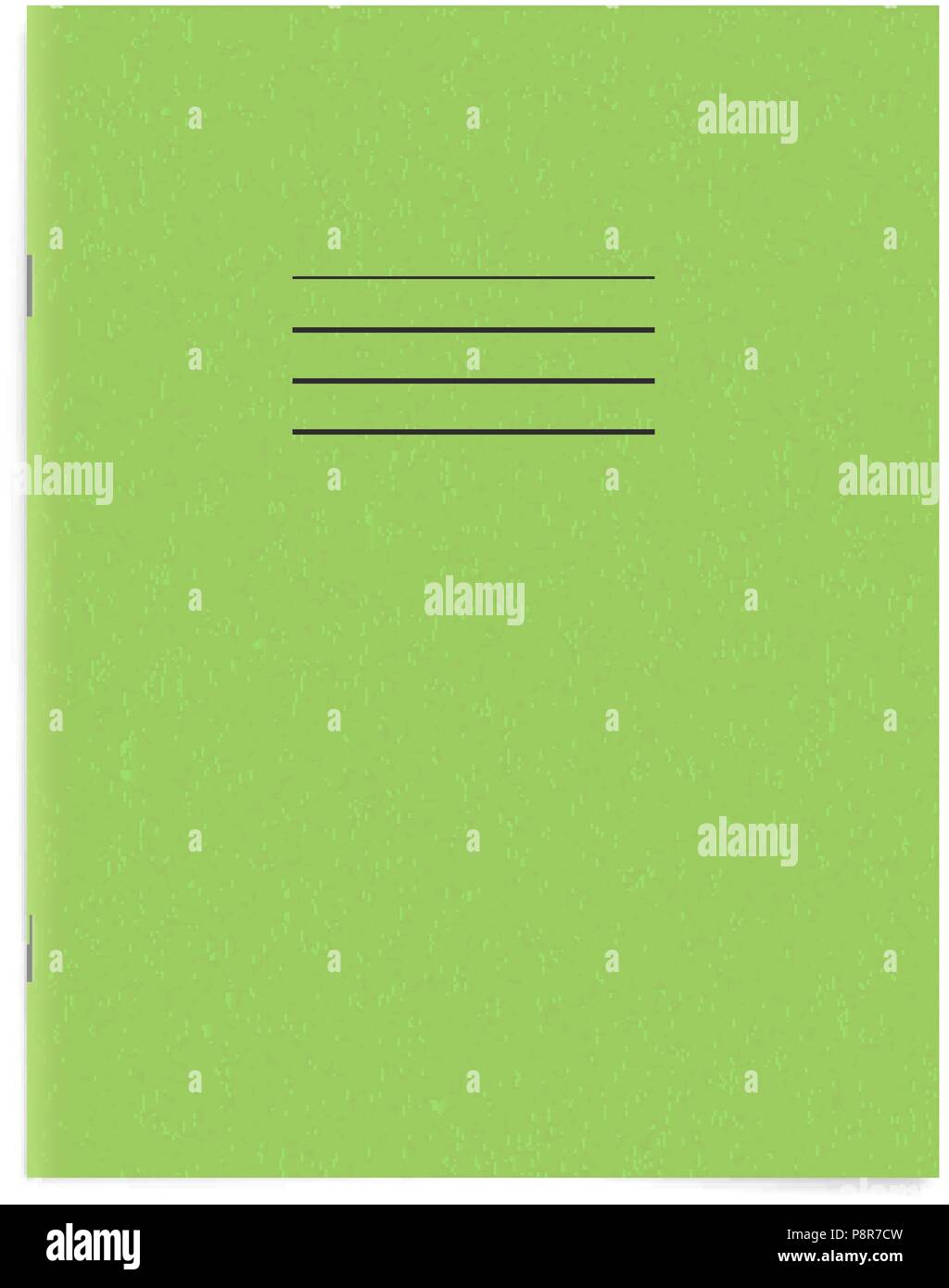 Green Empty Exercise Book Template Blank School Workbook Cover
