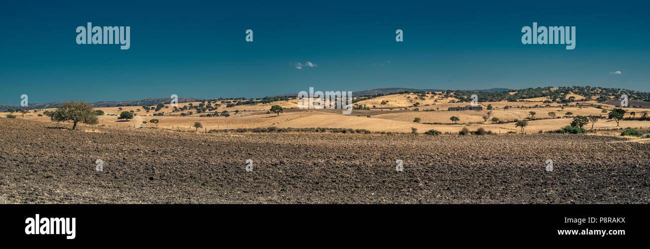 Panoramic inland hillside landscape of Sardinia, Italy. Stock Photo
