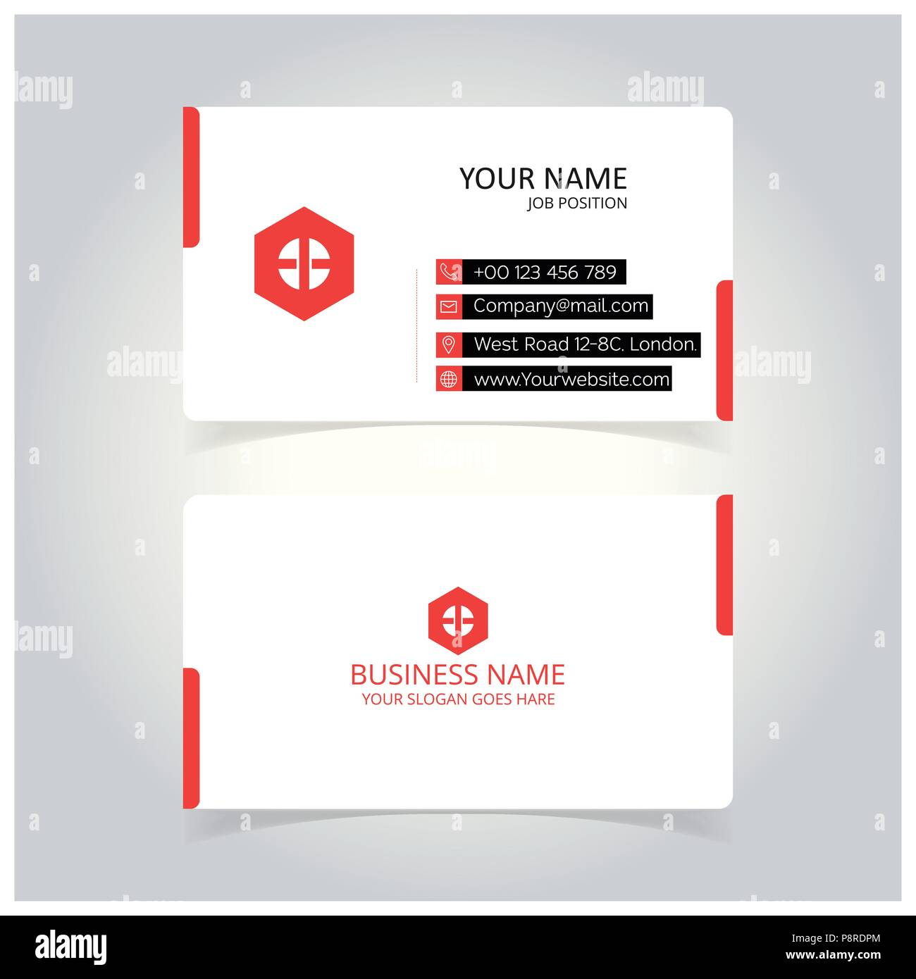 Creative Business Card Template For Web Design And Application Interface Also Useful For Infographics Vector Illustration Stock Vector Image Art Alamy