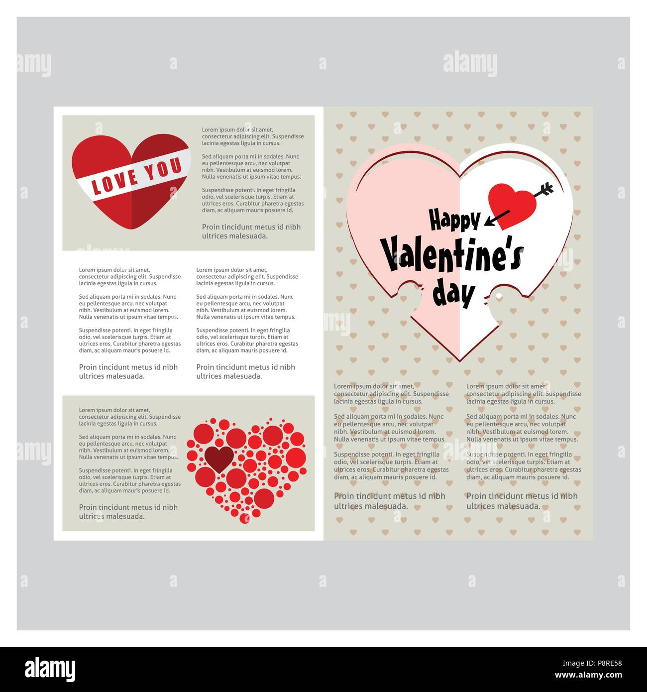 Valentine S Card With Hearts And White Background For Web Design
