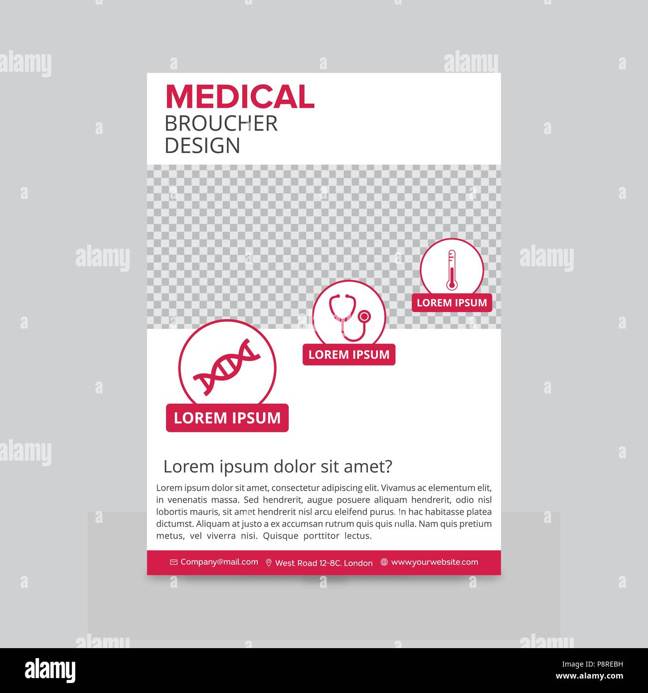 Red and white medical flyer layout template brochure background red and white medical flyer layout template brochure background leaflet with cover vector design in a4 size for business for web design and applic cheaphphosting Choice Image