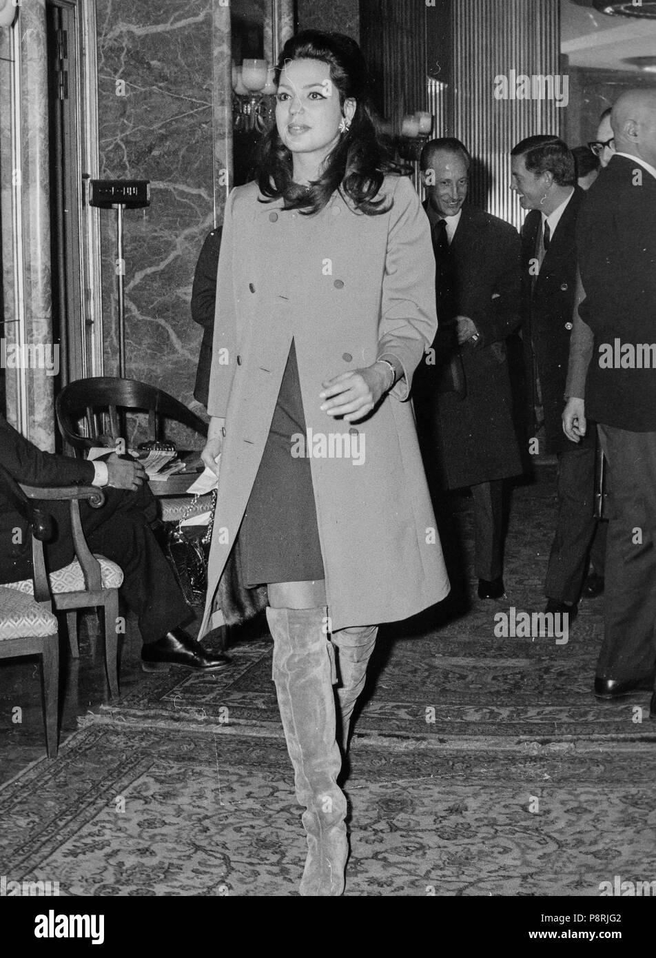 ira von furstenberg, milan 1967 - Stock Image