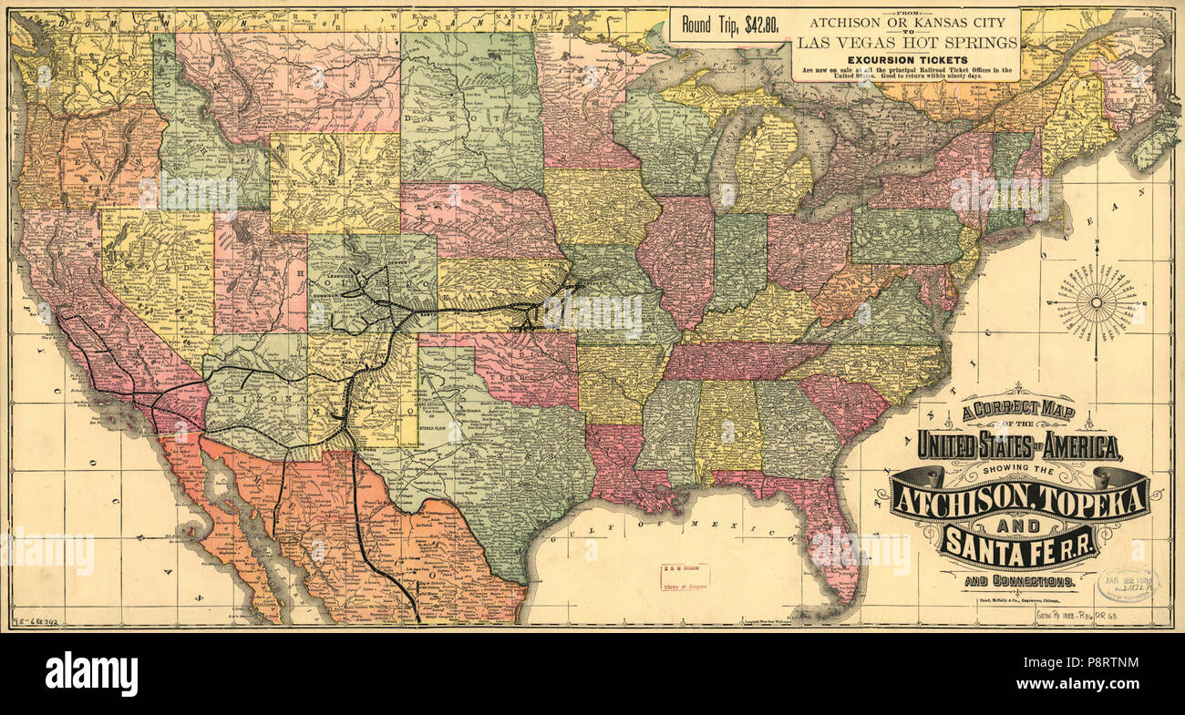 A correct map of the United States of America showing the ...