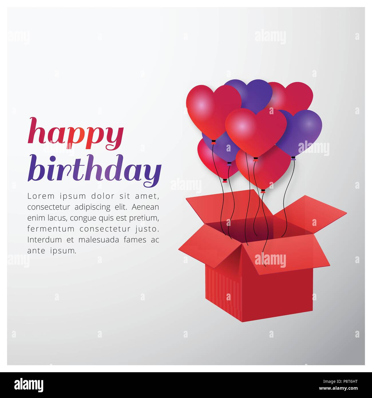Happy birthday typography vector design for greeting cards and happy birthday typography vector design for greeting cards and poster with balloon and gift box design template for birthday celebration white and g m4hsunfo