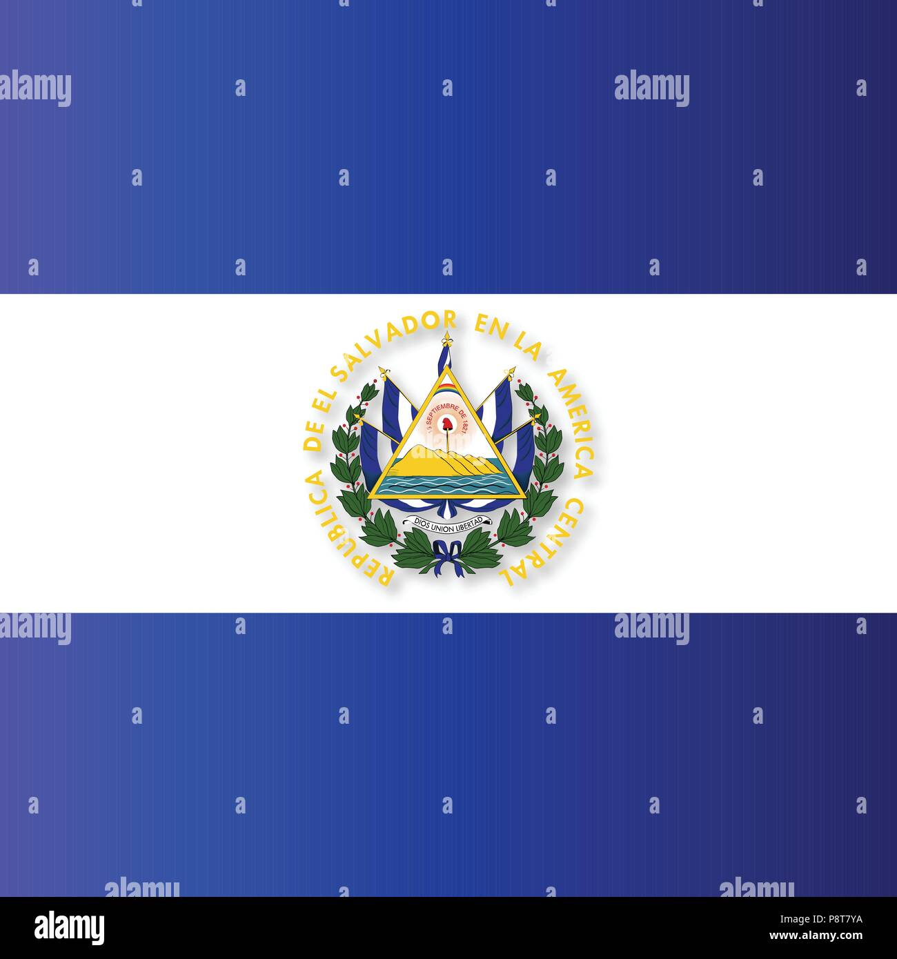 El Salvador Independence Day Greeting Card.. For web design and application interface, also useful for infographics. Vector illustration. - Stock Image