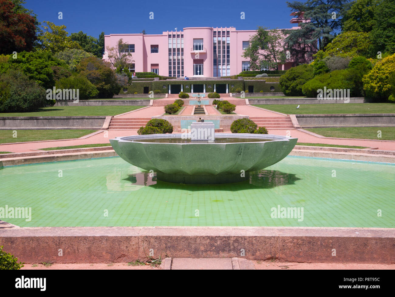 Serralves Gardens, next to the Serralves Foundation Museum of  Contemporary Art, in Oporto, Portugal - Stock Image