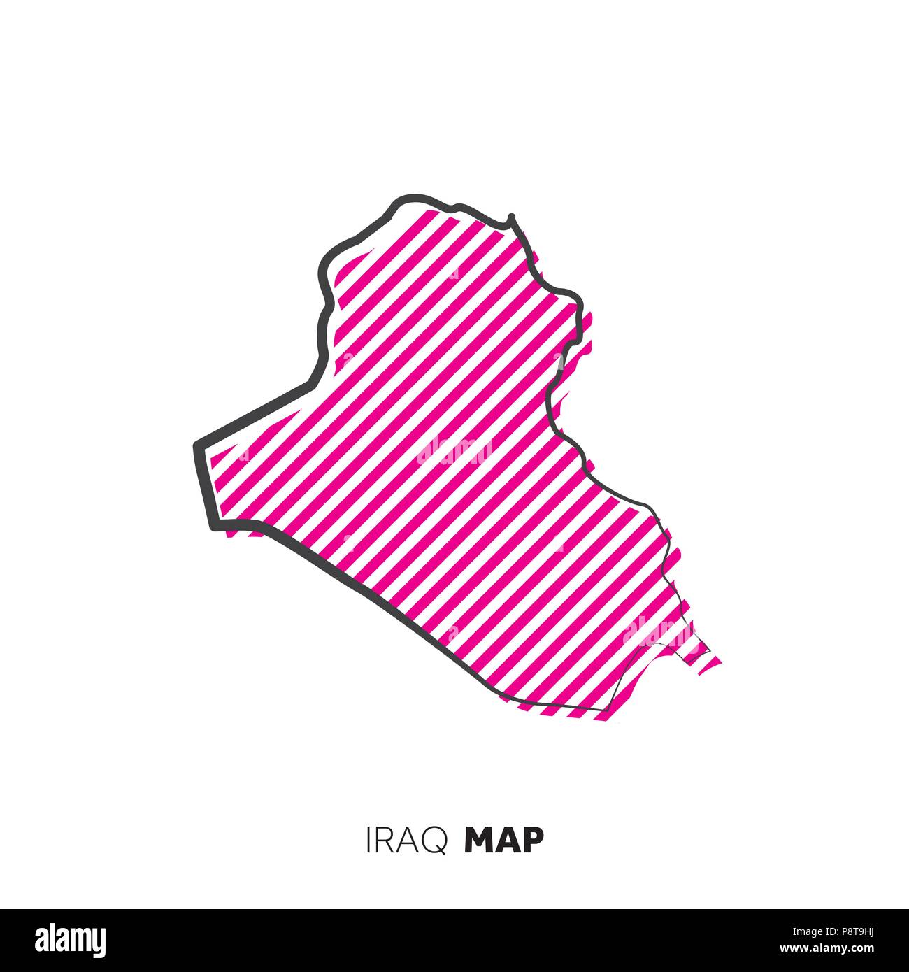 Iraq vector country map  Map outline with dots Stock Vector Art