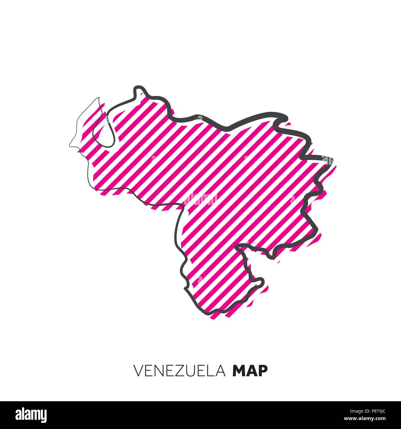 Venezuela Vector Country Map Map Outline With Dots Stock Vector Art