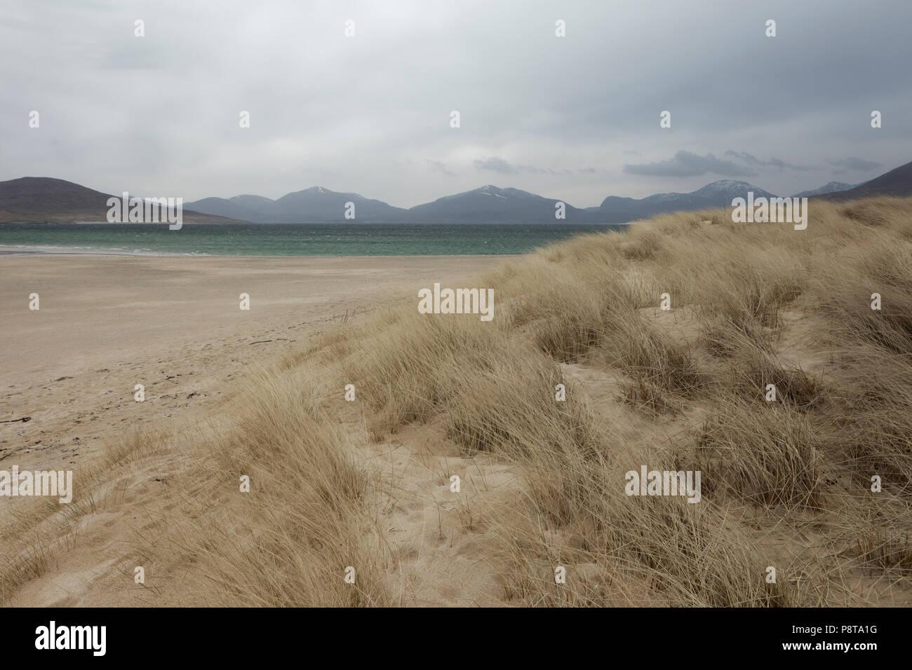 Landscape image of the coast around the Isle of Harris, Outer Hebrides, Scotland. - Stock Image