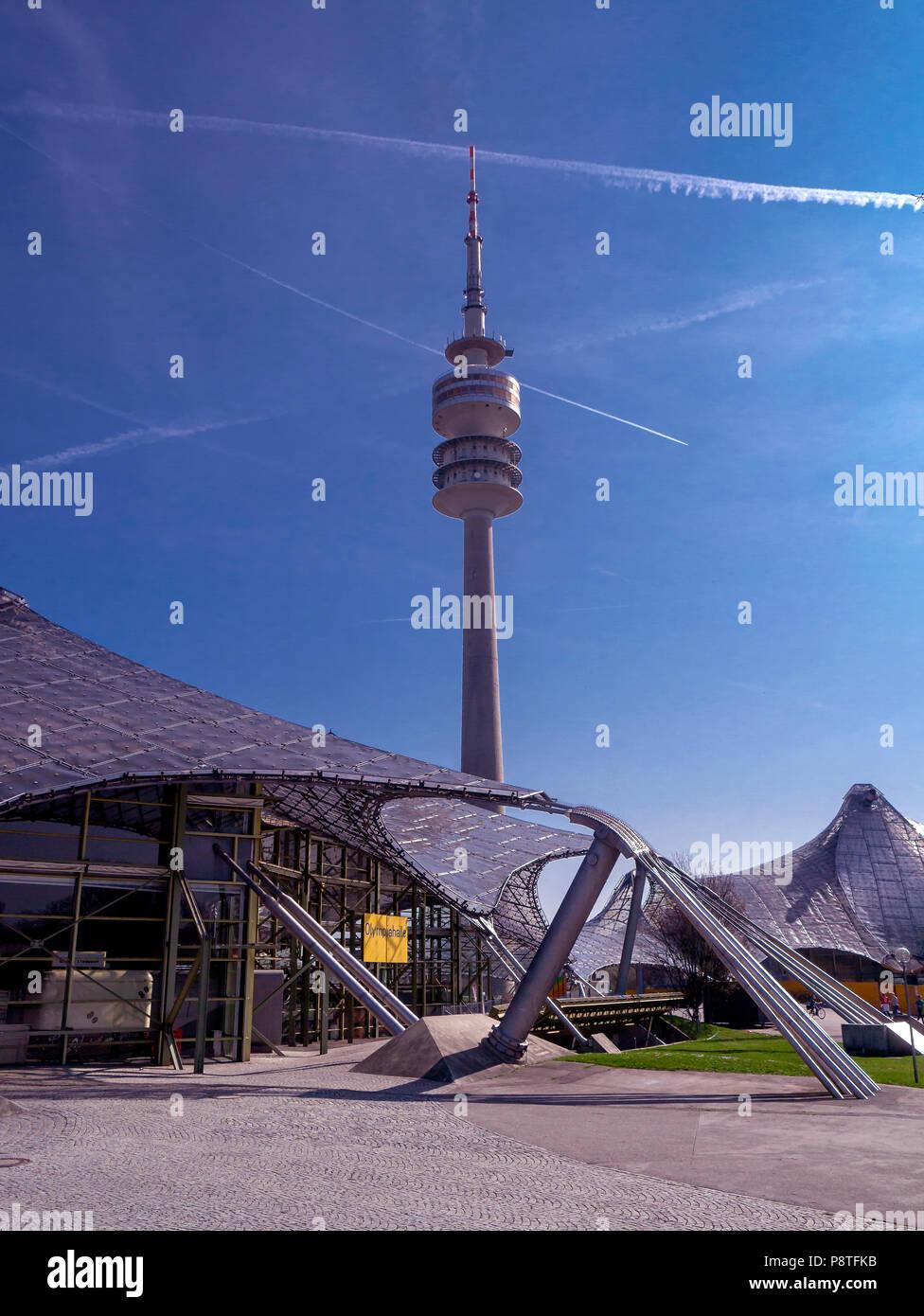 DE - Bavaria : Olympic park Munich - Stock Image