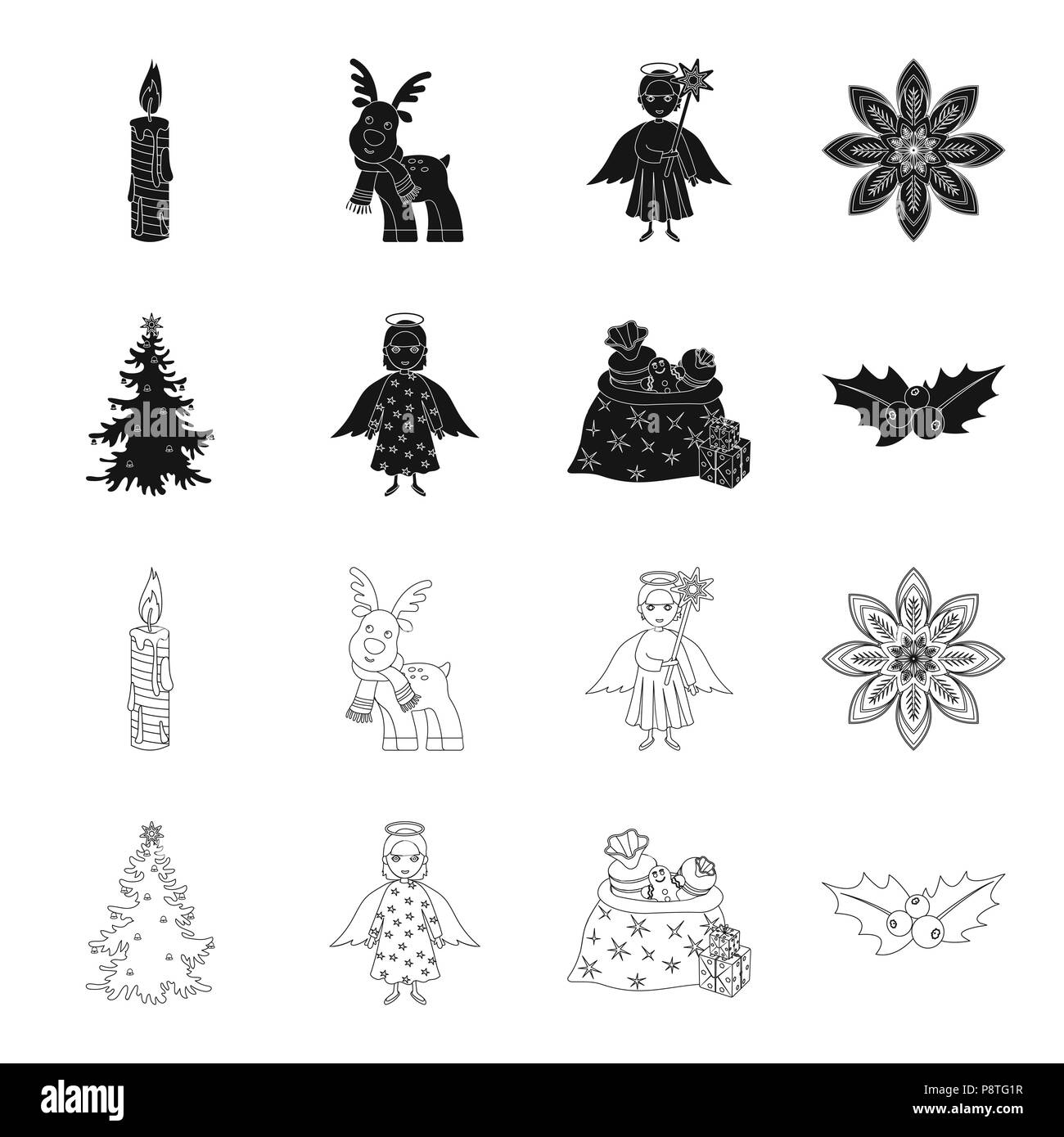 Tree Outline Black And White Stock Photos Images Alamy