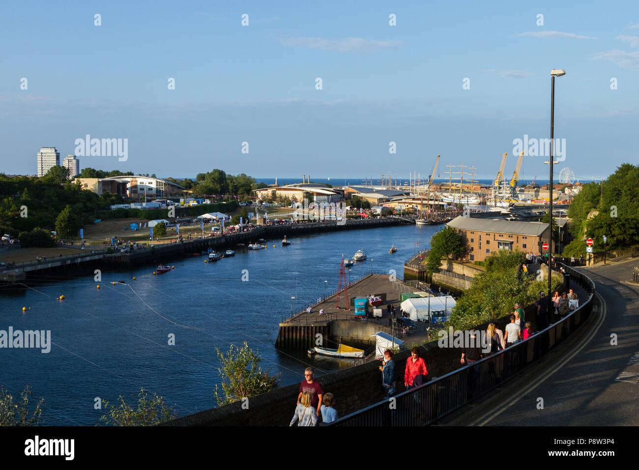 Sunderland, UK, 13 July 2018. Ships on display at the Tall Ships Race, Sunderland 2018 - Stock Image