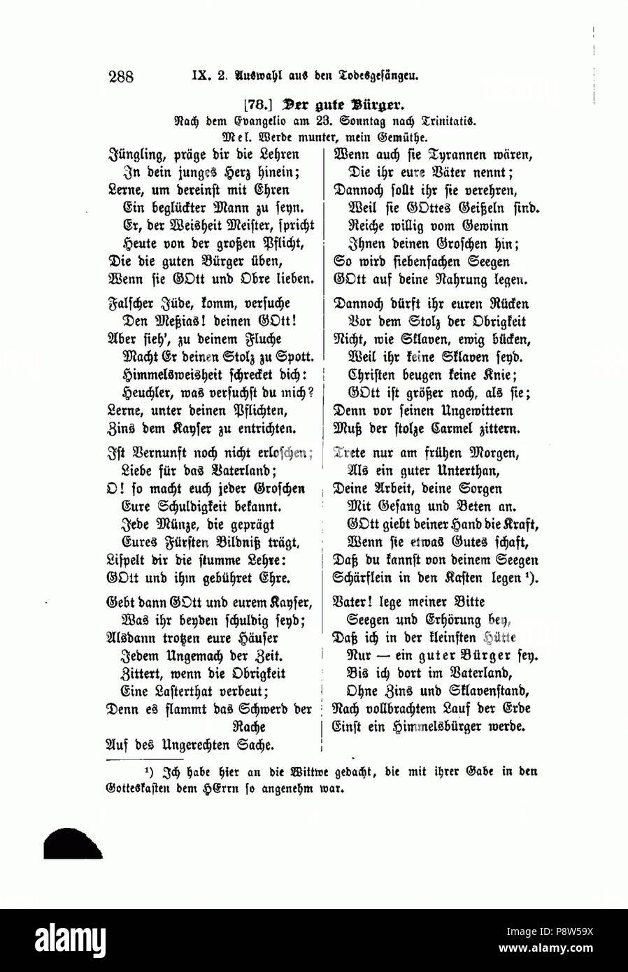 46 Aus Schubarts Leben und Wirken (Nägele 1888) 288 - Stock Image