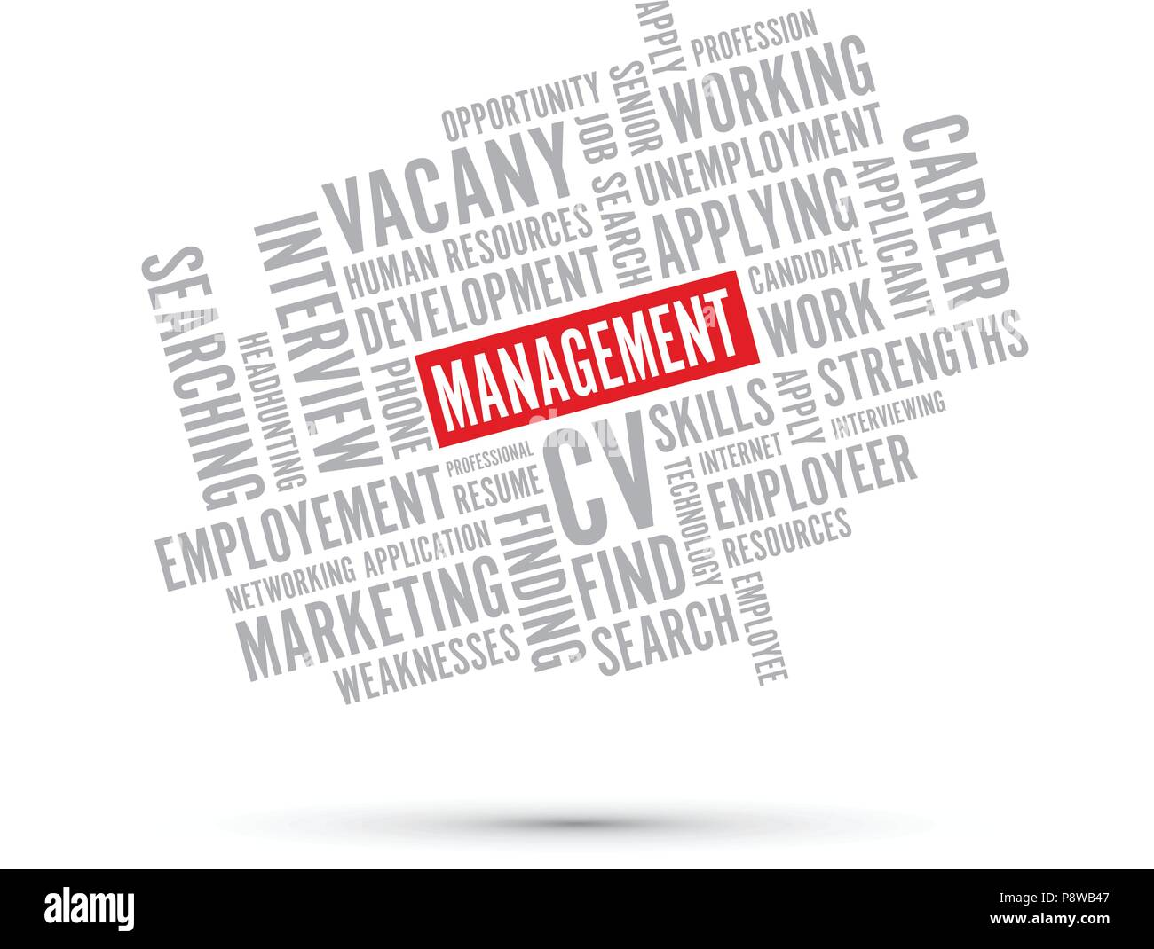 management text background - Stock Image