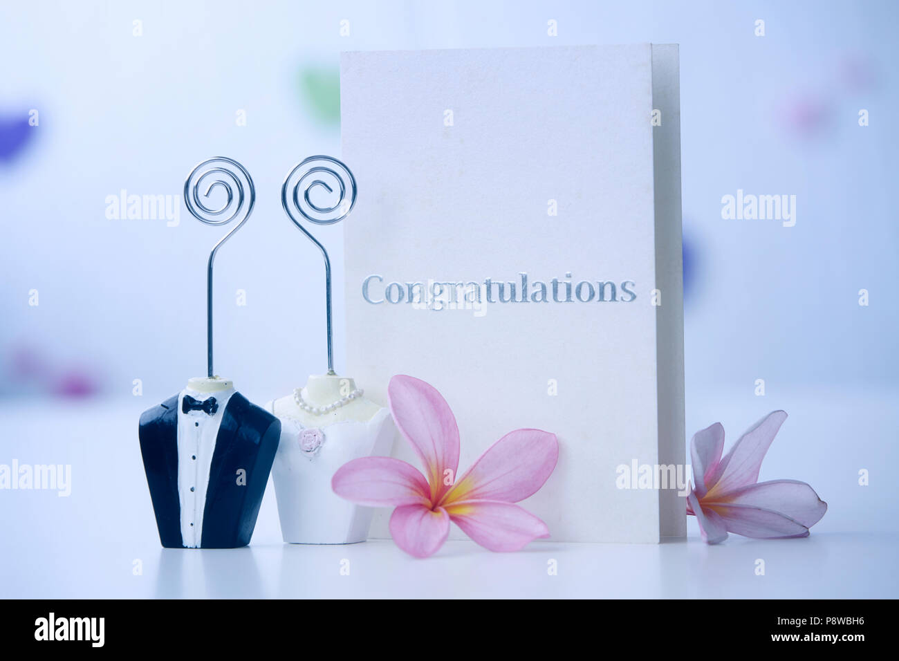 Bride and groom figure card holder with congratulations greeting bride and groom figure card holder with congratulations greeting card m4hsunfo