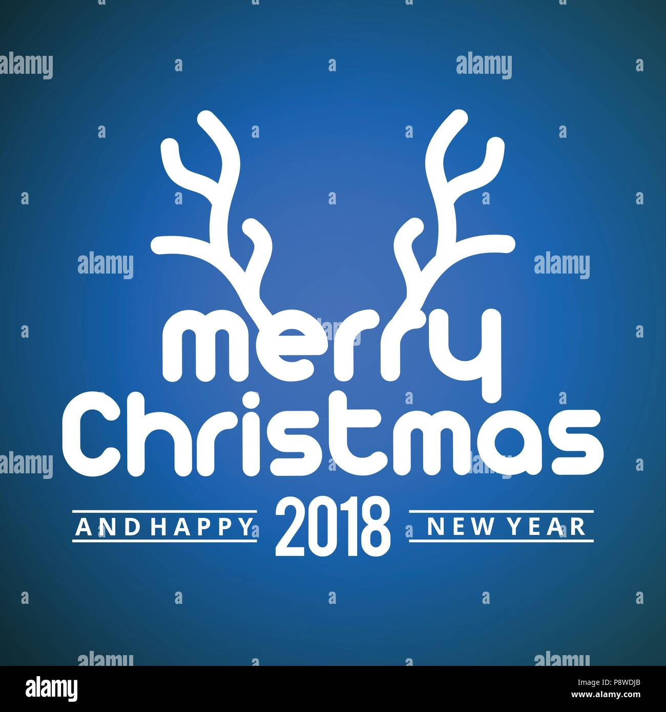 Christmas Greetings Card With Dark Background Simple Text With Dear