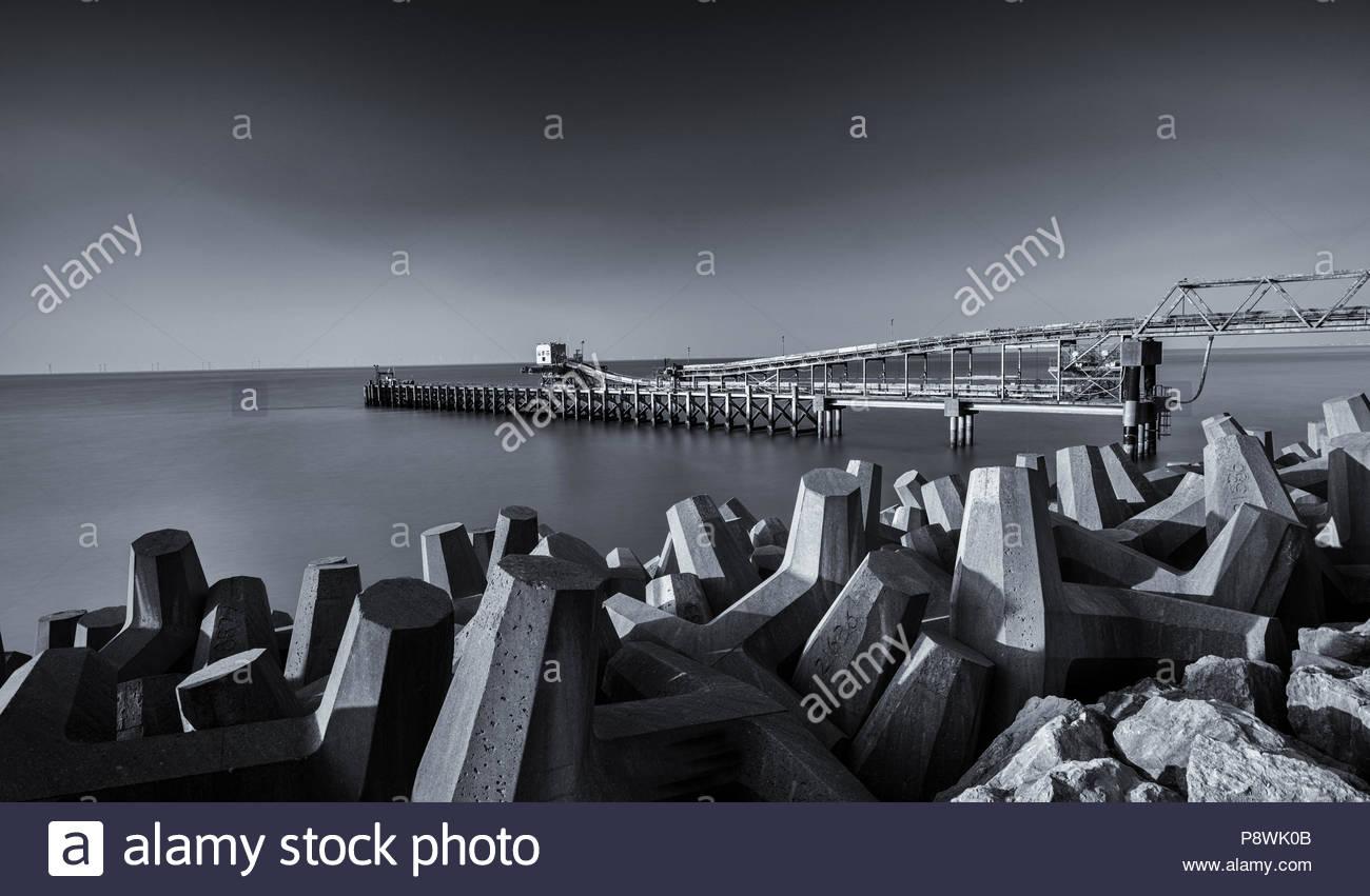 Raynes Jetty, Llanddulas, Colwyn Bay, Wales - Stock Image