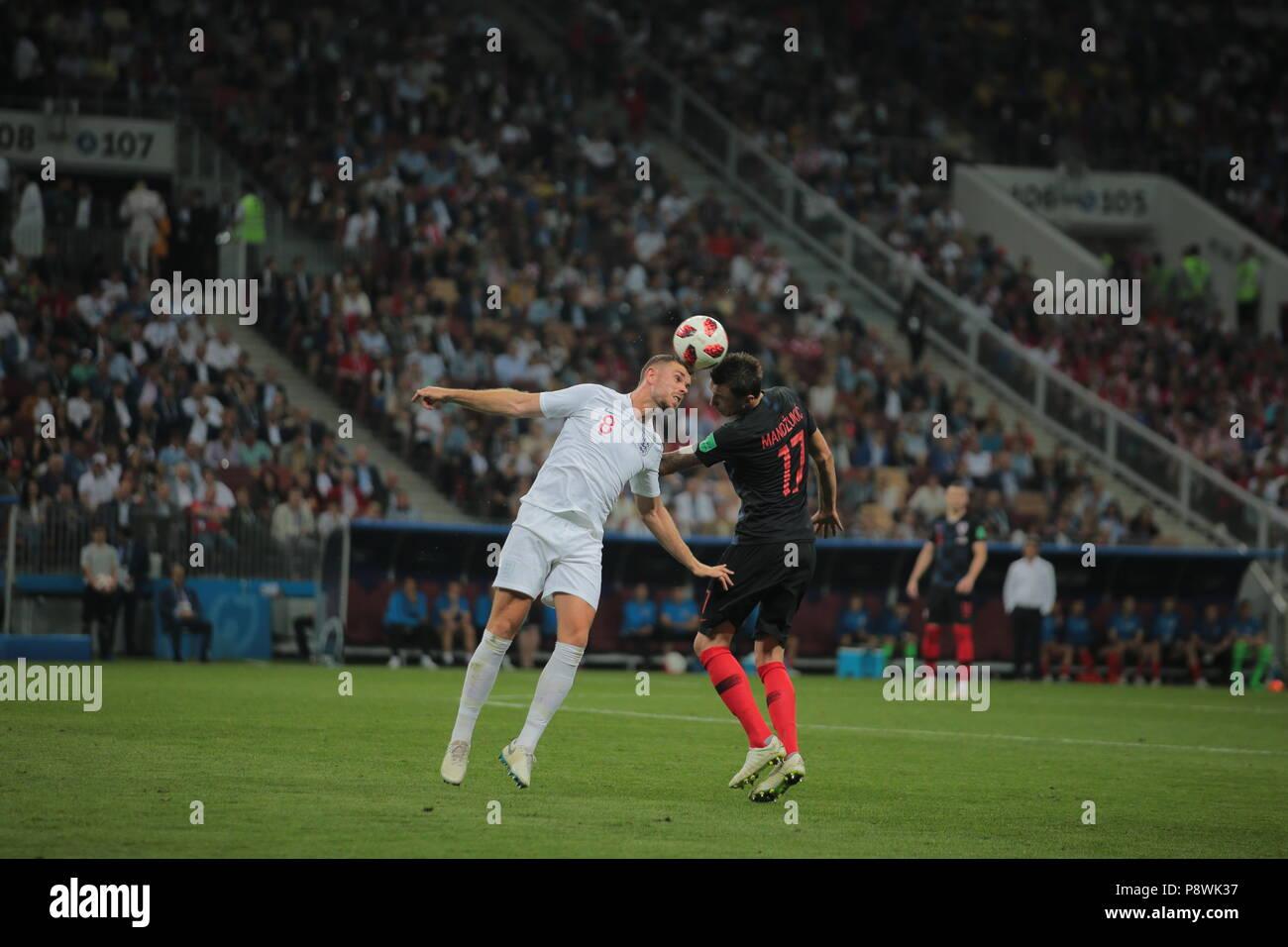 dedbb42d7a2a42 FIFA World Cup Russia 2018. Semifinals. Croatia vs England at Luzniki  Stadium. English